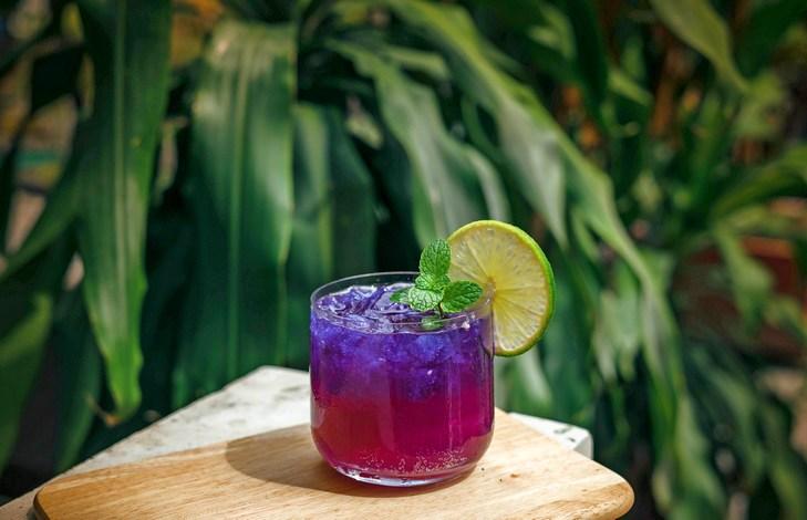Рецепт фиолетовый Анчан с лаймом